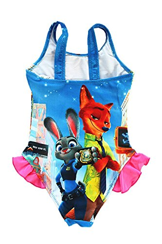 FineApparel UK Seller Zootropolis Zootopia Judy Nick Swimming Costume Girls Swimwear Swimsuit 3-9 Years Style 2