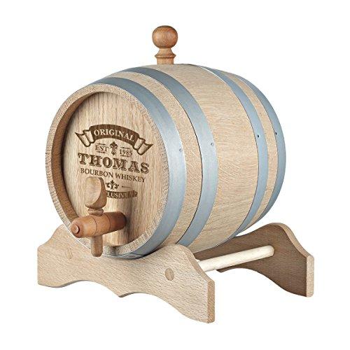 polar-effekt 3 Liter Holzfass Personalisiert mit Namens-Gravur - Geschenkidee zum Geburtstag für Männer - Eichen-Fass für Whisky oder Wein - Motiv Original-Exklusive