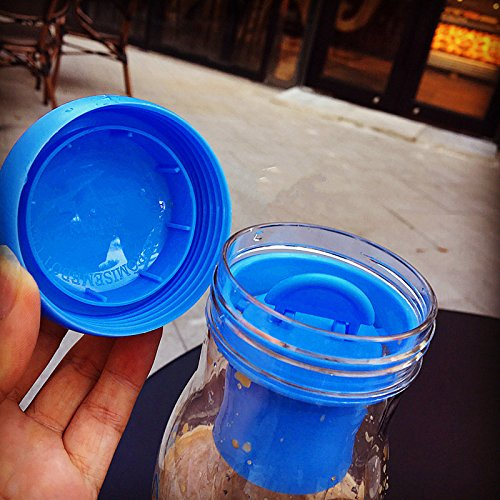 Locisne 750ml Portable Frucht Infuser Wasserflasche - Große Flasche Hydrat Gesunde Frucht Infusion Getränk Saft, Gefrorener Tee, Limonade Leck Proof & BPA Freier Tritan Plastik mit Beutel Geschenk für Schwarz