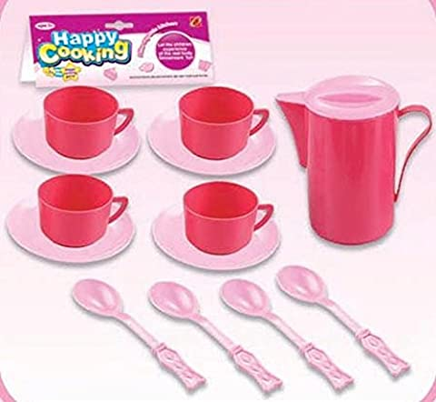 Kids Cooking Chef Kitchen Playset Toys | Cups | Plates | Spoons | Jug | Tableware Appliances Pretend Play
