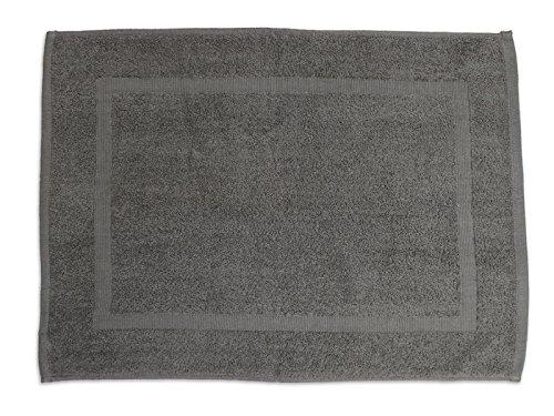 Soleil d'Ocre 477042 Tapis de Bain Coton Gris 50 x 70 cm