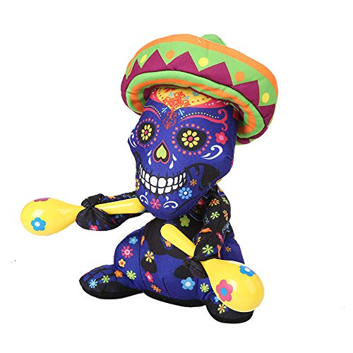Halloween skull zombie doll -  with shakers can twist, sing and dance - H.eternal  Happy Animated Party Decoration Toy (Not included batteries) (A) - 30cm 11""