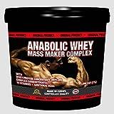 3000g / 3kg ANABOLIC WHEY MASS MAKER COMPLEX - FOR HARDGAINERS, Muskelaufbau - Eiweiß / Whey Protein - Mass Gainer - reich an Aminosäuren wie BCAA & Glutamin, Vanille Geschmack