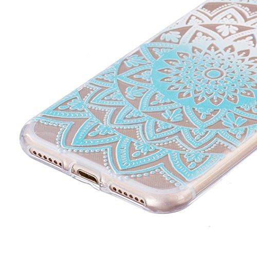 Ouneed® Für iPhone 7 /4.7 Zoll Hülle, Ultra Slim bunt Vintage Haut TPU Case Cover für iPhone 7 / 4.7 Zoll (7 /4.7 Zoll, J) H