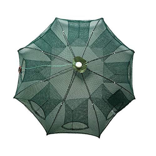 Roblue Angelnetz, Regenschirm, faltbar, automatisch, faltbar dunkelgrün 8 trous