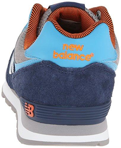 New Balance - Kl574, Sneakers per bambine e ragazze blu grigio arancione
