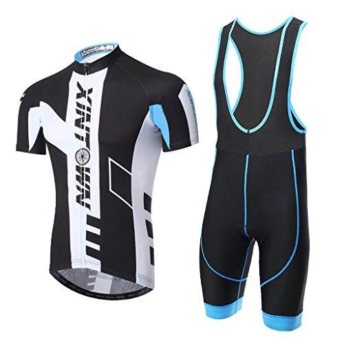 Ciclismo Maillot,Skysper Hombres Jersey + Pantalones cortos babero Man