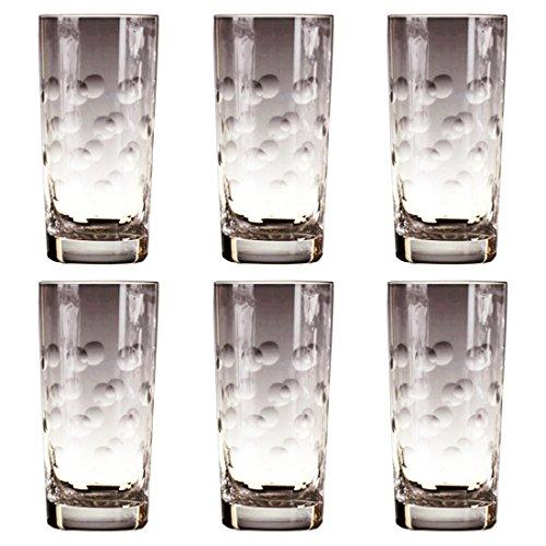 CRISTAL DE PARIS - 6 pièces-Pastille Cristal Salut Ball Verre à Long Drink-Lot de 6