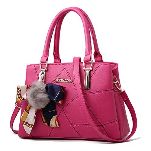 Lady Handtasche Mode Bulk Mom Bag Crossbody Umhängetaschen Umhängetasche,RoseRed