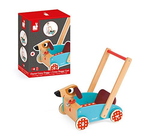 Janod J05995 - Lauflernwagen aus Holz, Crazy Doggy - 4