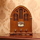 Lautsprecher-HU Antiker Antiken-Radio-Tischplatten-hölzerne Sprecher-Weinlese-Bluetooth-Radio-Feiertags-Geschenke (Farbe : Brown Wood Color)