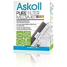 Askoll Pure Filter Media Kit - Juego de materiales filtrantes para acuarios
