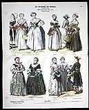 Zur Geschichte der Kostüme - XVIII. Jahrhundert - Köstüme Tracht Münchener Bilderbogen