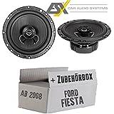 Lautsprecher Boxen ESX HZ62 Horizon - 16cm Koax Auto Einbausatz - Einbauset für Ford Fiesta MK7 Front Heck - JUST SOUND best choice for caraudio