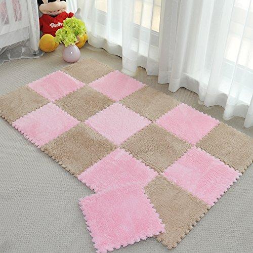 Generic 4: caliente venta 1Pcs de espesor costuras peluche superficie de espuma alfombra niño Baby Crawling Mat para cocina baño sala de estar alfombra C1