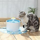 EFGUFHC Fontaine de fleurs, Langue source Fleur Fontaine d'eau pour chats et petits chiens-A