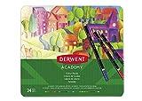 Derwent 2301938 Academy Colouring Pencils, Multi-Color,Set of 24