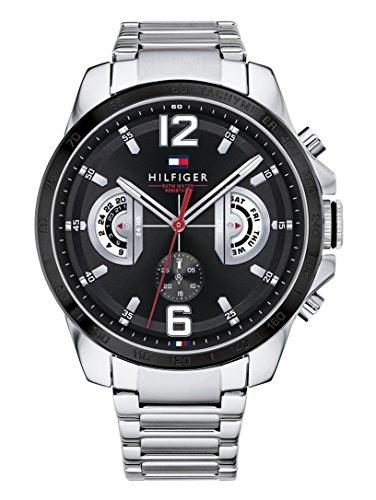 Tommy Hilfiger Unisex Multi Zifferblatt Quarz Uhr mit Edelstahl Armband 1791472