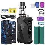 FredEst Cigarrillo Electronico 7-160W,Batería recargable de 5000mah, Enorme Kit de Vape con pantalla,E Cigarette TC Box Mod Starter Kit,Sin Nicotina y Sin E-líquido (negro)