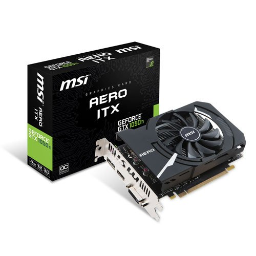 Price comparison product image MSI GTX1050TIAEROITX4GOCV1 Nvidia GeForce GTX 1050 Ti AERO ITX 4G OC PCI Express Graphics Card - Black