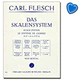 Carl Fleisch - The Scales System - Scales Exercises Through All Major and Mollton Types - Students for Violin - with Colourful Heart-Shaped Note Clip...