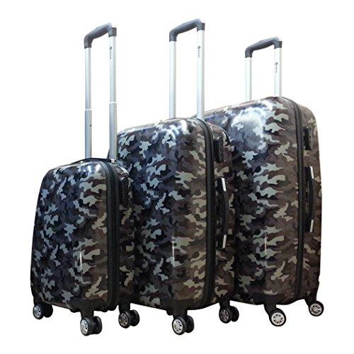 Benzi - hartschale - Kofferset - 3 Teilig - Armee camo