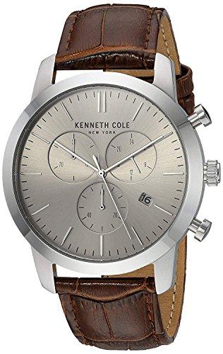 Kenneth Cole Orologio Analogico Quarzo Uomo con Cinturino in Pelle KC50053002