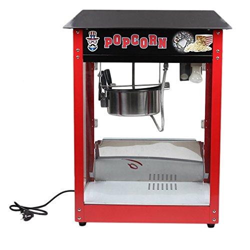 Popcornmaschine,1370W Retro Heissluft Popcorn Maker, Popcorn-Bereiter, Popcorn-Maker ohne Fett & Öl, Retro-Design Profi Popcornmaschine mit einem integrierten Heizsystem und einem Rührwerk