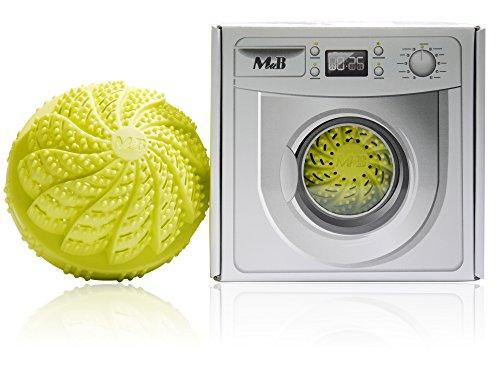 Biologischer Waschball - sauber waschen ganz ohne Waschmittel, ionisierend durch Keramikperlen, antibakteriell, speziell für Allergiker, Babys und Kinder geeignet, umweltfreundlich by BLISSANY (Grün)