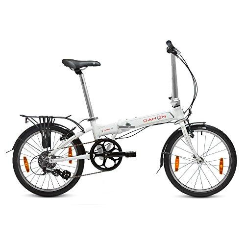 Dahon Vitesse D8 Bicicleta Plegable, Unisex Adulto, Blanco Cloud, 20'