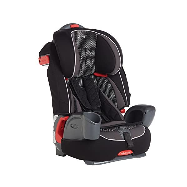 Graco Nautilus Harnessed Booster Car Seat Group 1/2/3, Gravity Graco 3-in-1 convertible car seat For children 9 to 36 kg (approx. 9 months to 12 years) Convenient one-hand height-adjustable headrest 1