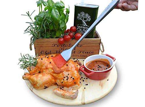 Kreative Kraft - Pennello da cucina in acciaio inox professionale Ashley Silicook, 30,48 cm, ideale per barbecue, arrosti da forno, grill, design raffinato, fantastico accessorio per ogni cucina elegante, ottima Idea regalo