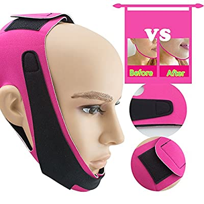 Face-Lift Slim, Chin Lift Band, Risingmed Chin Cheek Slim Lift Up Anti-Wrinkle Mask Ultra-thin V Face Line Belt Strap Band by risingmed