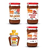 #4: Eastern Lemon Pickle (100g), Chicken Pickle (150g), Fish Pickle (150g), Prawns Pickle (150g)(Pack of 4)