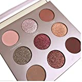 Oyalaiy 9 Color Eyeshadows Palette Matte Nature Warm Shimmer Glitter Dreamcatcher Eye Shadow