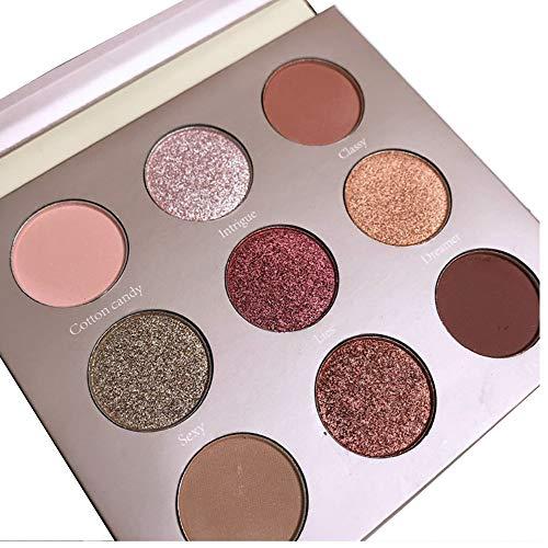 Oyalaiy 9 Color Eyeshadows Palette Matte Nature Warm Shimmer Glitter Dreamcatcher Eye Shadow -
