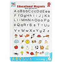 Learn Educational Magnetic Letters Pictures Magnet Alphabet Match Spell Game Gift Toy Kids Children