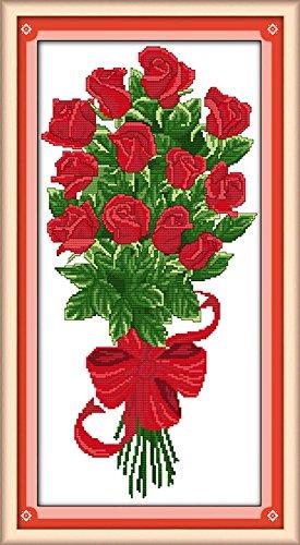 Ein Strauß von Rosen Prägung Kreuzstich Näharbeiten Kreuzstich rot Ys Strauß