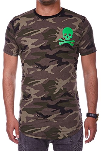 ... MT Styles Oversize T-Shirt SKULL Camouflage RS-939 Khaki