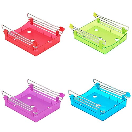 Primetraders Grün: 2017Hohe normalgroß Kühlschrank Storage Rack Layer Partition Kühlschrank Speicher Holder ausziehbaren Schublade Organizer Küche Regal Rack -