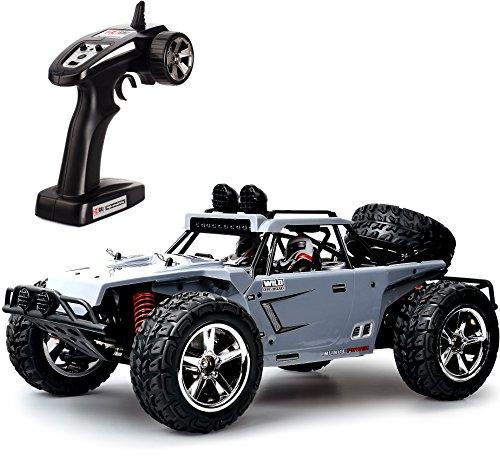 TOZO C5031 RC Coche Juguete 4WD de Alta Velocidad 30MPH+ 4x4 Escala 1:12 Mando a Distancia de 2,4Ghz Coche de Carreras Eléctric Vehículo con Batería Recargable Color Gris