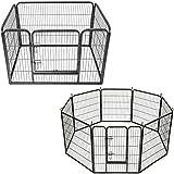 TecTake Recinto grande per cuccioli esterno recinto per cani gatti cuccioli roditori - modelli differenti - (rettangolare | no. 401718)