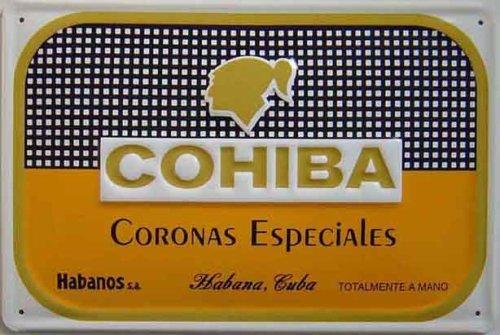 Cigiba di Cohiba Segno di acciaio in rilievo 300mm x 200mm (hi)