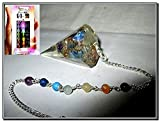 #4: Jet New Thick Orgone Pendulum Free Booklet Jet International crystal Therapy 4 Healing 2