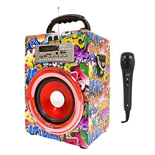 Music Life Altavoz Karaoke Micrófono Bluetooth Portátil