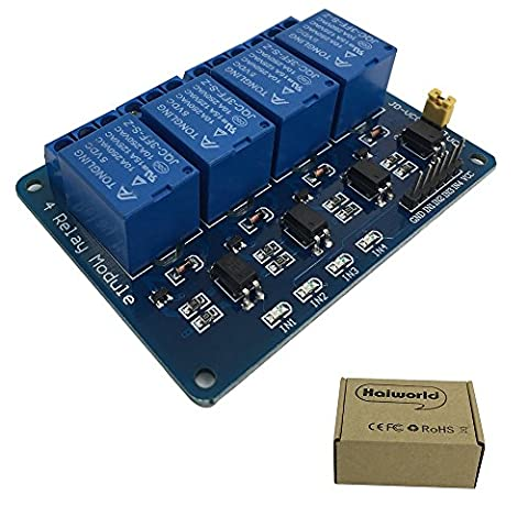 Haiworld 4 Channel DC 5V Relay Module for Arduino UNO R3 MEGA 2560 1280 DSP ARM PIC AVR STM32 Raspberry Pi
