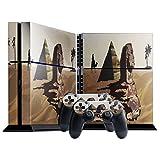 Pyramide, Designfolie Sticker Skin Aufkleber Schutzfolie mit Farbenfrohem Design für Playstation 4 CUH 1000 1100