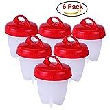(6 Pack) Egg Cooker Hard & Soft Maker, sans BPA, EN SILICONE anti-adhésif, pas de Coque, Coque en silicone oeufs Maker sans le Shell--Vu à la Télé