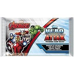 Topps Expositor de sobres Hero Attax: Vengadores (TOMABT) - Paquete individual con 8 cartas.