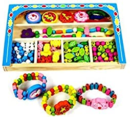 Jewellery Making DIY Kid Pop String Beads Toy Fashion Girls Accessories Toy Set by Akrobo